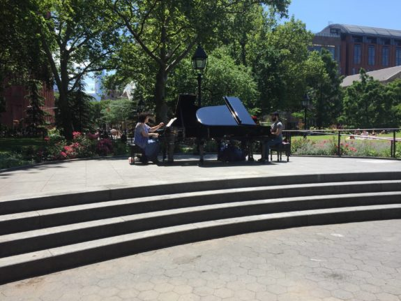 Playing piano for the Make Music NY Festival